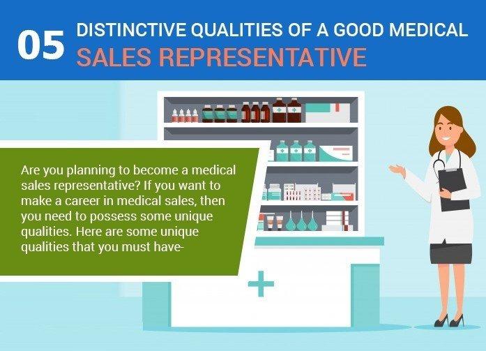 Infographic: 5 Unique Qualities of A Good Medical Sales Representative